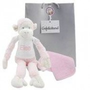 Happy Horse Knuffel Monkey Mickey Pink met naam