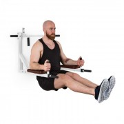 KLARFIT Bouncer MultiGym Pull Up & Dipstation, 200 kg, oțel, albă (FIT1-Bouncer (white))