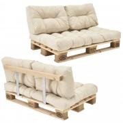 [en.casa]® Paletový interiérový nábytok - model A - béžový