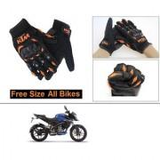 AutoStark Gloves KTM Bike Riding Gloves Orange and Black Riding Gloves Free Size For Bajaj Pulsar NS160
