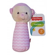 Fisher-Price Fisher Price Soft Plush Hand Rattle Lil Nuzzler Pink Monkey
