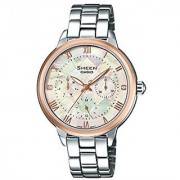 Casio Sheen Analog Mother Of Pearl Dial Womens Watch-SHE-3055SG-7AUDR (SX192)