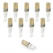[lux.pro] 10 x Bombilla LED 2,5 vatios G9 ampolla Spot Micro - 3000K (blanco cálido)