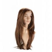 LOVE AND VIBES Perruque Cheveux Châtains Longs et Lisses