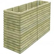 vidaXL Vaso/floreira de jardim 197x56x96 cm madeira pinho impregnada