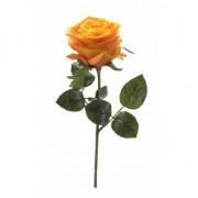 Merkloos Kunstrozen Simone geel/oranje 45 cm