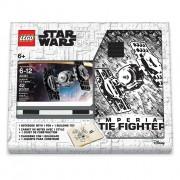 LEGO Stationery Star Wars Tie Fighter - caiet cu pix și kit
