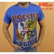 Majica Srbija Rusija plava
