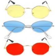 SRPM Cat-eye, Retro Square Sunglasses(Red, Yellow, Blue)