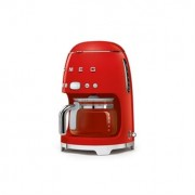 Machine à café filtre rouge 10 tasses 1050 W DCF01RDEU Smeg