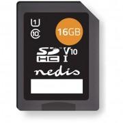 Nedis 16GB MSDC16100BK SDHC UHS-I CL10 memóriakártya