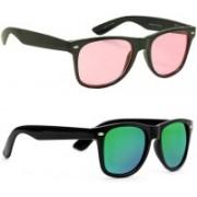 Phenomenal Wayfarer Sunglasses(Pink, Green)