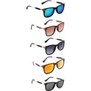 Ultra Digits Wayfarer Sunglasses(Blue, Brown, Grey, Orange, Black)