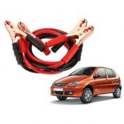 Auto Addict Premium Quality Car 500 Amp Heavy Duty Copper Core Tangle Battery Booster Cable 7.5 Ft For Tata Indica