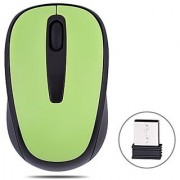TOPSELL Wireless Mouse with USB Receiver 2.4GHZ Mobile Optical Computer Mice with 10M Effective Distance Range for Laptop Macbook Desktops Green 2 Pack