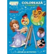 Disney - Coloreaza cu prietenii tai Aventuri in culori. Intoarce cartea 2 in 1