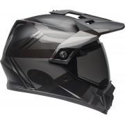 Bell MX-9 Adventure Mips Blackout Motozkřížové přilby S Černá červená Stříbrná