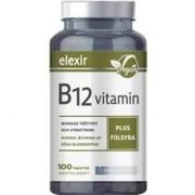 Elexir Pharma B-12 vitamin plus folsyra 100 tabletter