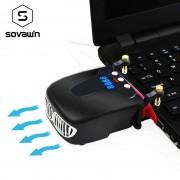 Vrijdragende Laptop Cooling Vacuüm Fan Externe USB Stille Ijs Notebook Koeler Digitale Display Verstelbare Smart Model Cooler popu·pine
