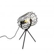 QAZQA Industrial table lamp tripod black 40 cm - Bliss Vefa