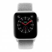 Apple Watch Series 4 - caja de aluminio en gris 40mm - correa deportiva Loop en color nácar (GPS)
