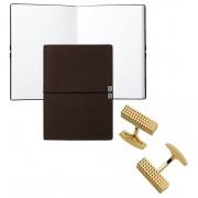 Set Butoni Gold Plated S.T. Dupont si Note pad Burgundy Hugo Boss