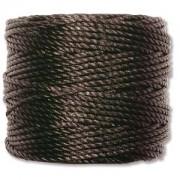 S-lon Heavy Macrame Cord - Black 1 rulle