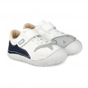 Pantofi Baieti Bibi Grow Albi-Rechin