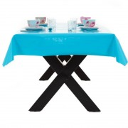Merkloos Buiten tafelkleed/tafelzeil turquoise blauw 140 x 250 cm rechthoekig
