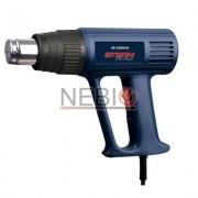 Pistol aer cald Stern HG2000ACN, 2000 W, 2 trepte caldura, Debit 300 - 500 l/min, Albastru