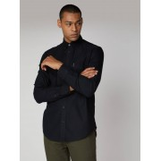 Ben Sherman Main Line Long Sleeve Black Oxford Shirt Medium True Black
