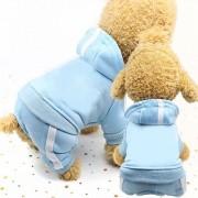 2 stuks huisdier hond kleding voor honden overall huisdier jumpsuit puppy Cat kleding voor hond jas dikke huisdieren honden kleding maat: L (hemelsblauw)