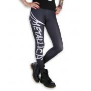 Leggings femme - Metallica - Logo - Noir / blanc - MET1001