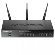 Рутер D-Link DSR-1000AC, 1750Mbps, 2.4GHz(450 Mbps)/5GHz(1300 Mbps), Wireless AC, 4x LAN 1000, 2x WAN 1000, 2x USB 2.0, 3x външни антени
