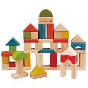 EverEarth® EverEarth Cubes Blocs de construction seau 50 pcs - Jouets bois