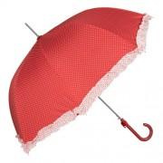 Clayre & Eef JZUM0009R Esernyő 93x90cm Piros fehér pöttyös
