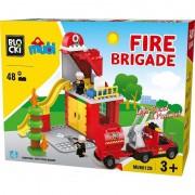 Joc constructie Blocki mubi, Sectia de pompieri, 48 piese