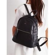 Stylowy plecak damski szkolny plecaczek miejski Davide Jones - CZARNY