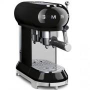 GARANTIE 3 ANI Expresor de cafea SMEG RETRO `50, sistem incalzire thermoblock, 15 bari, sistem antipicurare, panou control facil, rezervor apa 1 litru, putere 1350W, NEGRU, ECF01BLEU