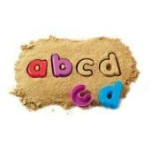 Set educativ pentru invatarea literelor - Forme multicolore litere mici - Learning Resources
