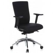 Hjh Sedia ergonomica ALVIN BASE, con sostegno lombare, regolabile e resistente, in nero