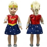 Good Look Doll Costume - Wonder Doll - Inspired by Wonder Woman - for 18 inch Dolls - 3 Piece Set