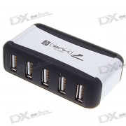 Hub USB 2.0 de 7 puertos con fuente de alimentacion externa (adaptador de CA de 110 ~ 240V)