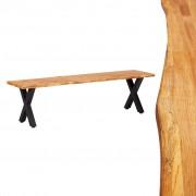 vidaXL Banco 160 cm madeira de carvalho maciça natural