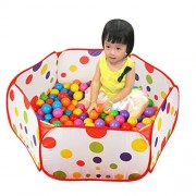 DEESEE(TM) Pop up Hexagon Polka Dot Children ocean Ball Play Pool Tent Carry Tote Toy