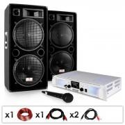 Set PA ''DJ 21'' amplificatore casse acustiche 2000W