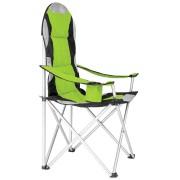 tectake Campingstol med stoppad dyna grön