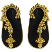 Pourni exclusive Designer Gold finish Ear Cuffs Earrings - DLEC05