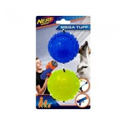 Nerf Dog Mega Tuff ULTRA Translucent TPR Sonic Ball Dog Toy, 2.5-in, 2 count