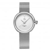 Shengke Elegancki zegarek SK na srebrnej bransolecie